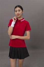$enCountryForm.capitalKeyWord Australia - Pure cotton pearl flower pull up T-shirt group wear polo shirt tailored work clothes short sleeve lapel LOGO