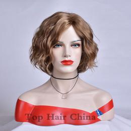 $enCountryForm.capitalKeyWord Australia - Fashion Simulation Human Hair Wigs beauty short bob Blonde curly wig for black women in stock
