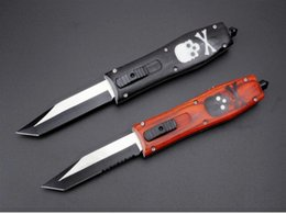 Discount butterfly knives - BenchOTFmade Butterfly beast skull handle D2 blade Hunting Folding Pocket Knife Survival Knife Xmas gift for men