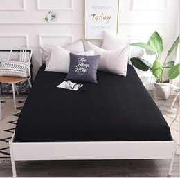 $enCountryForm.capitalKeyWord Australia - Black white blue cotton Fitted Sheet Mattress Cover with All-around Elastic Rubber Band Printed Bed Sheet Hot Selling Bed Linens