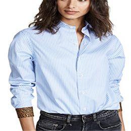 $enCountryForm.capitalKeyWord Australia - New Style Women Shirt Summer Office Cuff Top Plus Size Button Stripe and Leopard Patchwork Long Sleeve Shirt Fashion Hot 2019