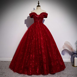 victorian short dress costume Canada - luxury slash collar queen wine red stage opera ball gown Victorian dress party stage performance medieval dress belle