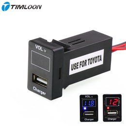 voltage meters for cars 2019 - socket car 5V 2.1A USB Interface Socket Car Charger and Voltage Meter Battery Monitor Use for TOYOTA,Camry,Corolla,Yaris