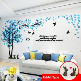 Landscapes For Wall Stickers Australia - Mixed Color Leaves Big 3d Wall Decals For Living Room Sofa Tv Background Acrylic Wallpaper Home Decor Sticker Wallposter Q190416