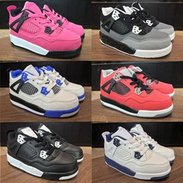 $enCountryForm.capitalKeyWord Canada - Children shoes Basketball Shoes Wholesale New 4 space jam 72-10 CNY 4s Sneakers kids Sports Running girl boy trainers size 28-35