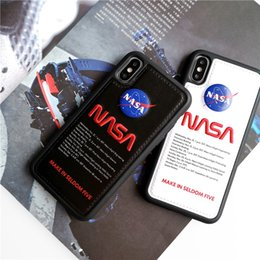Wholesale Luxury Designer Space Agency NASA Shockproof PU Leather Cell Phone Case Cover For iphone X Plus iPhone XS Max XR