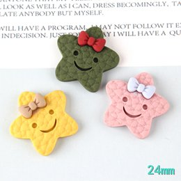 Smile buttonS online shopping - Kawaii Resin Cabochons mm Smiling Face Ribbon Bow Cute Stars Cameo Patch Sticker Girls Hair Bow Center DIY Buttons