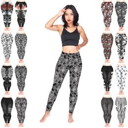 $enCountryForm.capitalKeyWord NZ - Women Leggings Mix 16 Styles Skull Faces Pattern Roses Ornament Muerte Nightmare Rock Tattoo Symbols Warning Stripes 3D Print Pants (Y215)
