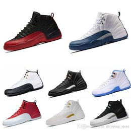 Blue Sky Game Australia - Cheap 12 12s Mens Basketball Shoes Gym Red Flu Game The Master French Blue Playoffs Wolf Grey Bordeaux Taxi Sports Sneakers