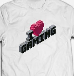 1773a3963 RETRO I LOVE HEART GAMING GAMER YOUTUBER VIDEO GAMES Mens T-shirt TEE SHIRT  Funny 100% Cotton T Shirt denim clothes camiseta t shirt