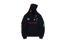 Earth Solid Canada - TRAVIS SCOTT ASTROWORLD peaceful Logo Smile the earth embroidery Black hoodie Sweatshirts hiphop hooded