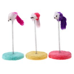 Frames Toys NZ - toy Toys Cat Scratch Board Mouse Toy Pet Frame Spring Bells Scratching Post Funny Playing Toys for Cats Kitten
