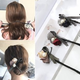 Wholesale Women Hair Accessories Flower Hair feeder pearl Headbands Beauty Adults Floral Jewely Tools Fashion Accessories