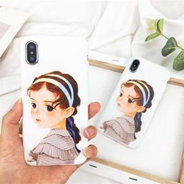 $enCountryForm.capitalKeyWord Australia - Hot Top Paris Girl Pattern Crashproof Back Cover TPU Cell Phone Cases Protective Covers For Apple iPhone X XR XS MAX 6 6S 7 8 PLUS