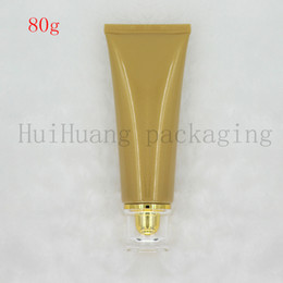 empty lotion squeeze tubes Australia - 30pcs 80g gold Cosmetic Soft Tube plastic Lotion Containers Empty Makeup squeeze tube Refilable Bottles Emulsion Cream Packaging