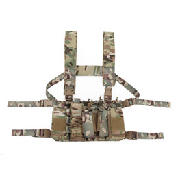 Wholesale Tactical Sling Vest MOLLE Pouch D Nylon Vest Belt Combat Army Battle Cummerbunds with Shoulder Sling Harness
