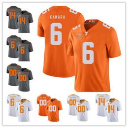 Football Jersey Orange Men NZ - Custom Tennessee Volunteers College #6 Alvin Kamara 16 Peyton Manning 14 Eric Berry 1 Jason Witten Orange White Gray NCAA Football Jerseys