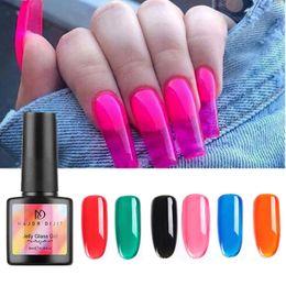 6 Coloré Coloré Gelée UV Gel Gel 8ml Soak Off Vernis Manucure Nail Art DIY H7JP en Solde