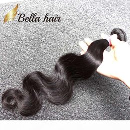 weave hair color 30 Canada - Unprocessed Indian Human Hair Weave 8~30 inch Hair Extensions Bundles Natural Color Body Wave Free Shipping Bella Hair