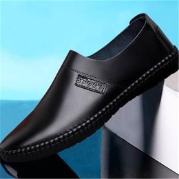 band drive 2019 - Flat Luxury new Shipping version Casual Shoes Men Breathable Leather Fashion Slip On Driving Shoes Comfortable Soft Men