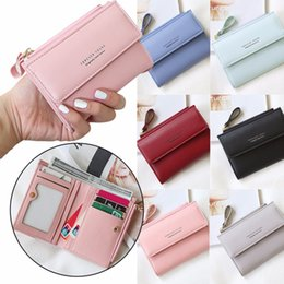 Coin Banks Wholesale Australia - Coneed The New Antimagnetic Handheld Women's Short Vertical Wallet Coin Purse Anti-Theft Brush Bank Card Purse 2019 May13 P40