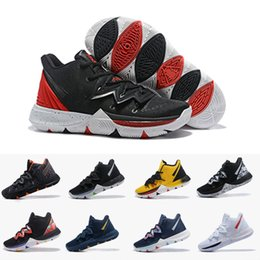 d5fc3e893316 2019 Kyrie 5 Black Magic Sky star Mens Basketball Shoes Chaussures 5s Men  Rainbow Black White Trainers Sports Sneakers Size US 7-12