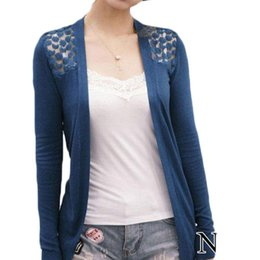 $enCountryForm.capitalKeyWord Australia - Summer Lace Cardigan Women Blouse Candy Color Shirt Back Hollow out Knitted Crochet Tops For Ladies Female Blusa Feminina