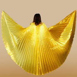 Gold Belly Dance Australia - Golden Wing Silver India Belly Dance Wing Show Dance Prop Bellydance Costume Carnaval Chinese Market Online Fairy Wings