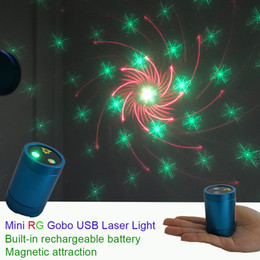 $enCountryForm.capitalKeyWord Australia - Sharelife Mini Portable RG Gobos Laser USB Light Built-in 1200MA Battery Magnetic Attraction for Home Party DJ Gig Stage Lighting DP4-RG
