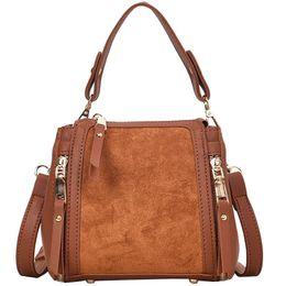 Vintage Fashion Women s Designer Handbag 2019 New High Quality Pu Leather  Women Tote Bag Suede Shoulder Messenger Bags Crossbody 85ba01a9219fb