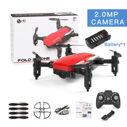 camera ready 2020 - LF606 Wifi FPV RC Fold Drone Quadcopter With 0.3MP 2.0MP Camera 360 Degree Rotating Outdoor Flying Aircraft
