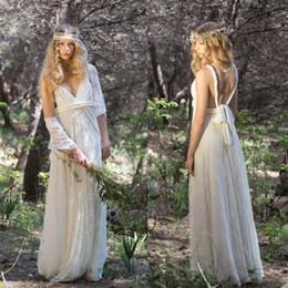 $enCountryForm.capitalKeyWord Australia - Bohemian Style Country Wedding Dresses A Line New 2019 Full Lace Floor Length Sexy Straps Beach Boho Bridal Gowns Cheap Wedding Dress