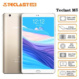 TableTs 4k online shopping - Teclast M8 inch x1600 Allwinner A63 Quad Core Android Tablet K Video Tablets GB RAM GB ROM Wifi GPS Dual Camera