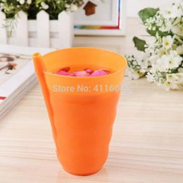 $enCountryForm.capitalKeyWord NZ - 120pcs New Kids Drinking Water Cups with Built in Plastic Straw Infant Children Kids Baby Sip Milk Cup Drink Home