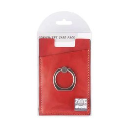 attached rings UK - Latest Design Cell Phone Credit Card Holder Attach To The Back For Mobile Phone Back Cover With Ring Kickstand