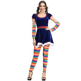 $enCountryForm.capitalKeyWord UK - Good Halloween costumes as adult women masquerade ball play circus clown stage costume