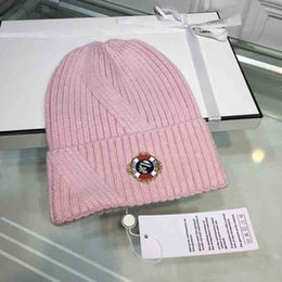 f392f1a3 Womens Luxury Designer Winter Beanies hats Knitted hat caps Fashion Colors  Soft rabbir wool knitting hat Luxury Gifts Girl Classic skull cap