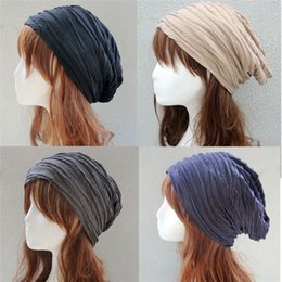 acrylic hats wholesale NZ - New Star Brand Knitted Caps Fashion Folding Winter Hats For Women And Men Skullies Beanies Acrylic Cotton 4 Colors fg003