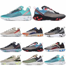 $enCountryForm.capitalKeyWord NZ - React Element 87 Mens Women Running Shoes Hyper Fusion Orewood Royal Tint Midnight Navy Sail Light Bone Designer Trainer Sports Sneakers