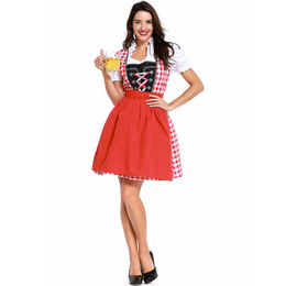$enCountryForm.capitalKeyWord Australia - Women's Oktoberfest Fraulein Costume German Beer Girl Costume Fraulein Dirndl Fancy Dress Halloween Costumes For Women A7301