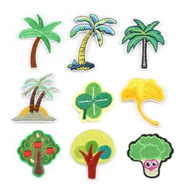 $enCountryForm.capitalKeyWord Australia - Coconut Tree Ginkgo Leaf Palm Leaf Embroidery Patches Sew Iron On Applique Repair DIY Badge Patch For Kids Clothes Jacket Bag Garment