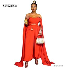 $enCountryForm.capitalKeyWord Australia - Long Latern Evening Pants Off Shoulder Sweetheart Party Dress With Maxi Long Sleeves Two Piece Dress Women