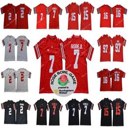 NCAA Ohio State Buckeyes  7 Dwayne Haskins Jr.  2 JK Dobbins  97 Nick Bosa   15 Elliott  16 Barrett Rose Bowl College Football Jerseys a2ef41101