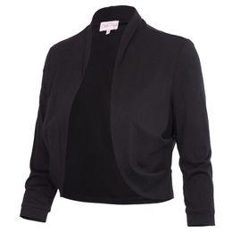 $enCountryForm.capitalKeyWord Australia - Bolero Shrug Women Casual 3 4 Sleeve Cropped Basic Stitch Spring Short Stretchy Outerwear Womens Coats Slim Outwear Tops Jacket