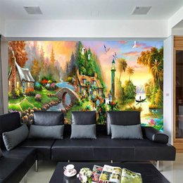 $enCountryForm.capitalKeyWord UK - American country oil painting large seamless mural 3D TV background hotel bar wallpaper living room bedroom study household deco