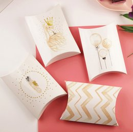 Party Present Box Australia - 2019 Candy Gift Box Wedding Birthday Party Guest Packaging Boxes Gift Bags Paper Pillow Shape Box Flamingo Decor Present Pouch