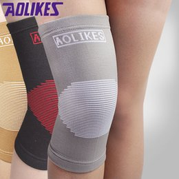 9058cadf24 Aolikes Knee Support Australia - AOLIKES 1PCS Nylon knee pads for  volleyball elastic breathable basketball kneepads