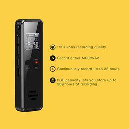 Stereo Recorder Australia - 8GB Mini professional Digital voice recorder Audio recording pen noise reduction bass stereo Loseless sound dictaphone