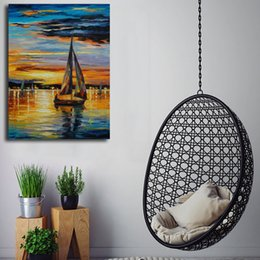 $enCountryForm.capitalKeyWord Australia - Van Eyck Sailing Boat Seascape Wall Art Canvas Posters Prints Painting Wall Pictures For Kitchen Bedroom Home Decor Accessories