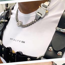 2020 1017 Alyx Studio Logo Métal Chaîne Collier Bracelet Belts Hommes Femmes Hip Hop Hop Accessoires Street Accessoires Festival Cadeau Gratuit en Solde